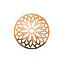 32mm Rose Gold Layered Flower Cut Out Disc