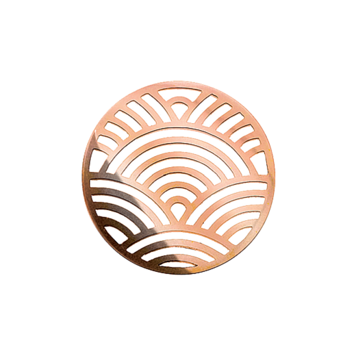 Virtue Keepsake 32mm Rose Gold Rainbow Cut Out Disc