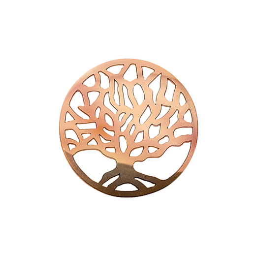 Virtue Keepsake 32mm Rose Gold Tree Cut Out Disc