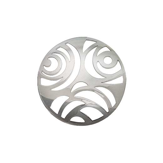 Virtue Keepsake 32mm Silver 3 Flower Cut Out Disc
