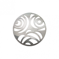 32mm Silver 3 Flower Cut Out Disc