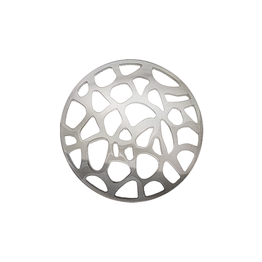 Virtue Keepsake 32mm Silver Abstract Cut Out Disc