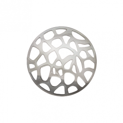 32mm Silver Abstract Cut Out Disc