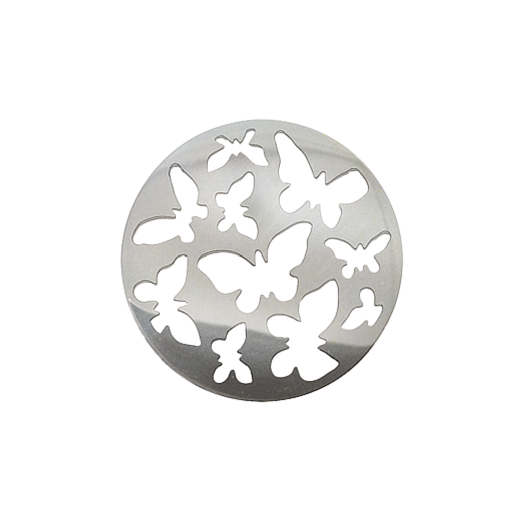 Virtue Keepsake 32mm Silver Butterfly Cut Out Disc