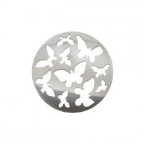 32mm Silver Butterfly Cut Out Disc