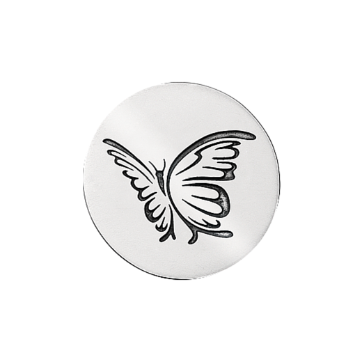 Virtue Keepsake 32mm Silver Butterfly Oxidised Disc