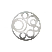 32mm Silver Circle Cut Out Disc
