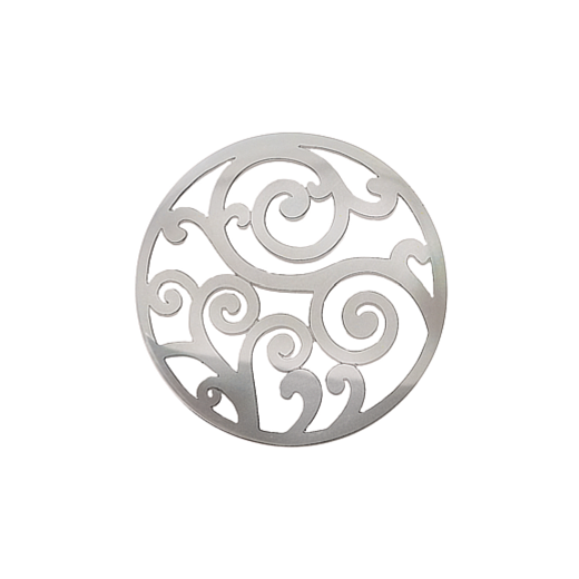 Virtue Keepsake 32mm Silver Filigree Cut Out Disc