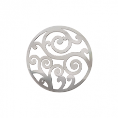 32mm Silver Filigree Cut Out Disc