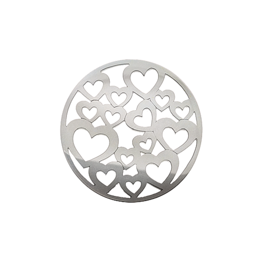 Virtue Keepsake 32mm Silver Heart Cut Out Disc