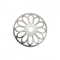 32mm Silver Large Petal Cut Out Disc