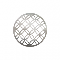 32mm Silver Lattice Cut Out Disc