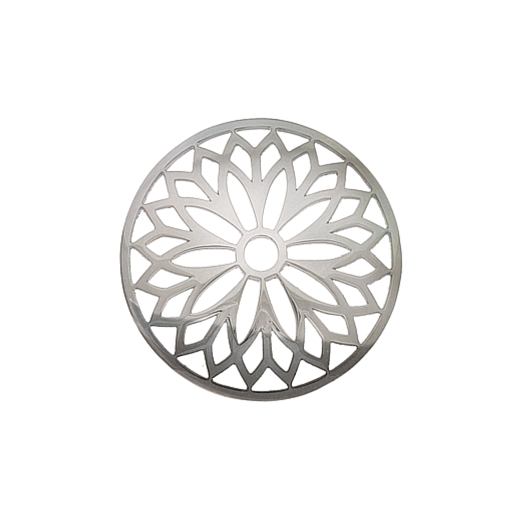 Virtue Keepsake 32mm Silver Layered Flower Cut Out Disc