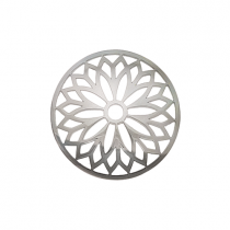 32mm Silver Layered Flower Cut Out Disc
