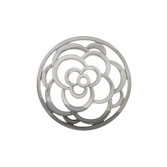 32mm Silver Rose Cut Out Disc