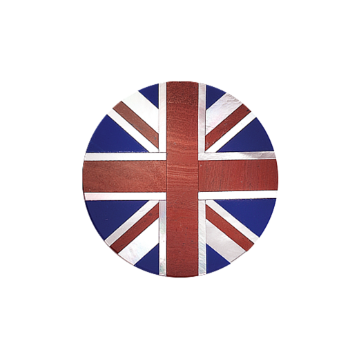 Virtue Keepsake 32mm Union Jack Stone Disc