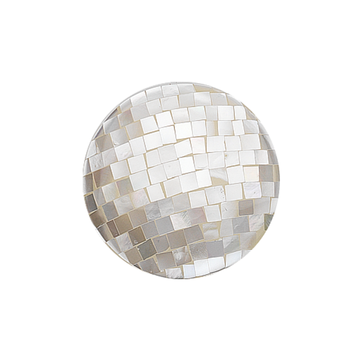 Virtue Keepsake 32mm White Mother of Pearl Mosaic Disc