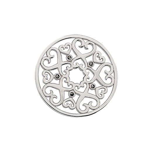 Virtue Keepsake Anitque Heart Marcasite Disc 32mm