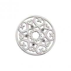 Anitque Heart Marcasite Disc 32mm