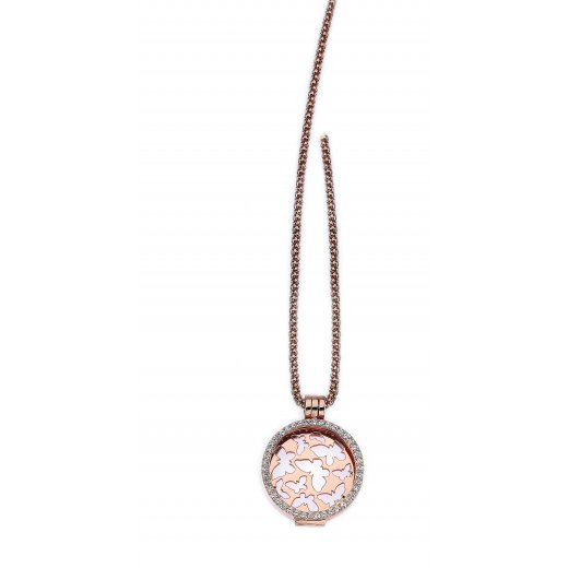 Virtue Keepsake Complete Rose Gold Butterfly Locket