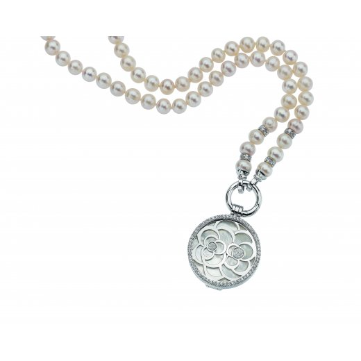 Virtue Keepsake Complete Silver and Pearl Flower Locket