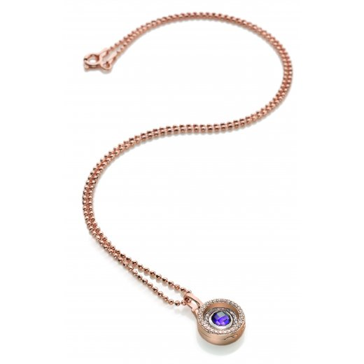 Virtue Keepsake Complete Small Rose Gold and Amethyst Locket