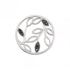 Entangled Leaf Marcasite Disc 32mm