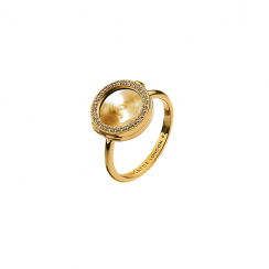 Gold 10mm Interchangeable Locket Ring