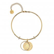 Gold CZ Lattice Bangle