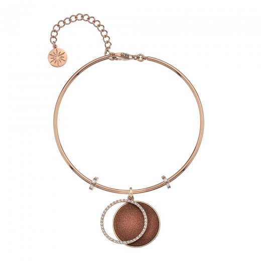 Virtue Keepsake Rose Gold CZ and Gold Sandstone Bangle
