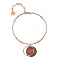 Rose Gold CZ and Gold Sandstone Bangle
