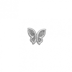 Silver CZ Butterfly Floating Charm