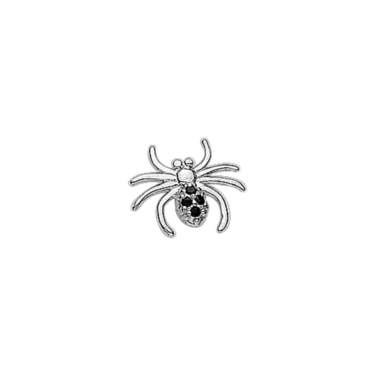 Virtue Keepsake Silver CZ Spider Floating Charm