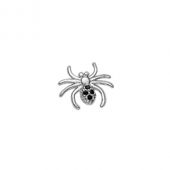 Silver CZ Spider Floating Charm