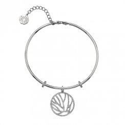 Silver CZ Stripes Bangle
