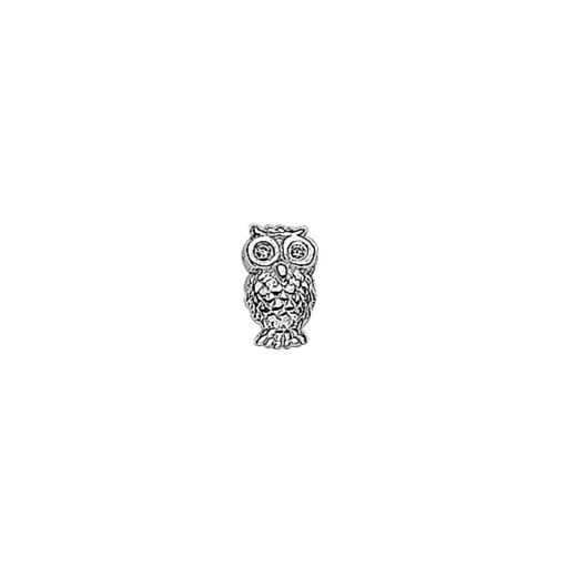Virtue Keepsake Silver CZ Wise Owl Charm