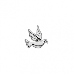 Silver Dove Floating Charm