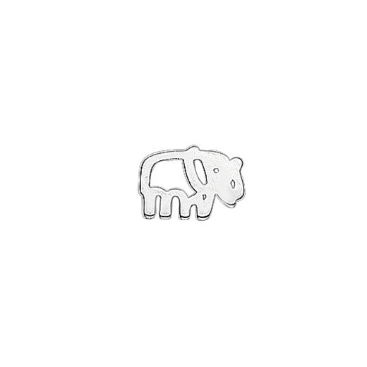 Virtue Keepsake Silver Elephant Floating Charm