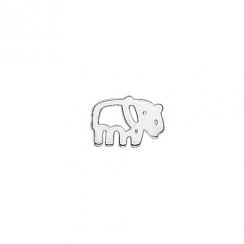 Silver Elephant Floating Charm