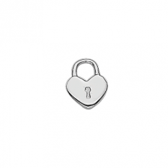 Silver Key to my Heart Floating Charm