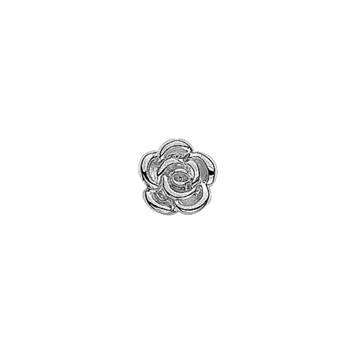 Virtue Keepsake Silver Rose Floating Charm