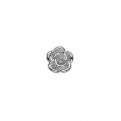 Silver Rose Floating Charm