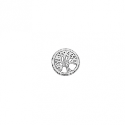Silver Tree of Life Floating Charm