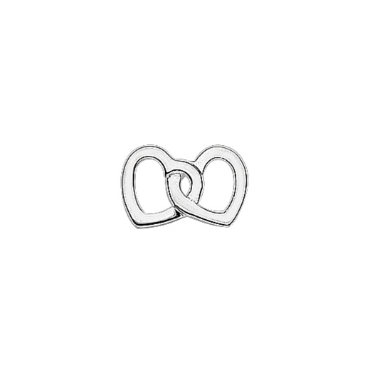 Virtue Keepsake Silver Two Hearts as One Floating Charm