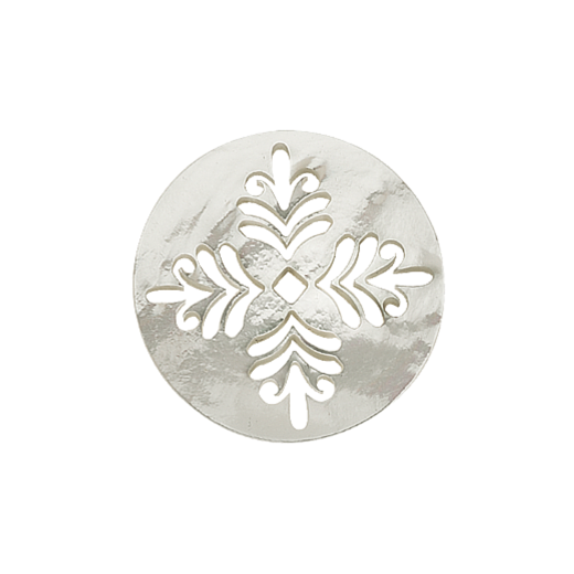 Virtue Keepsake White Mother of Pearl Fern Disc 32mm