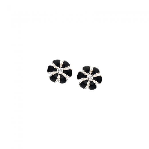Virtue Stack Rings Black Pansy