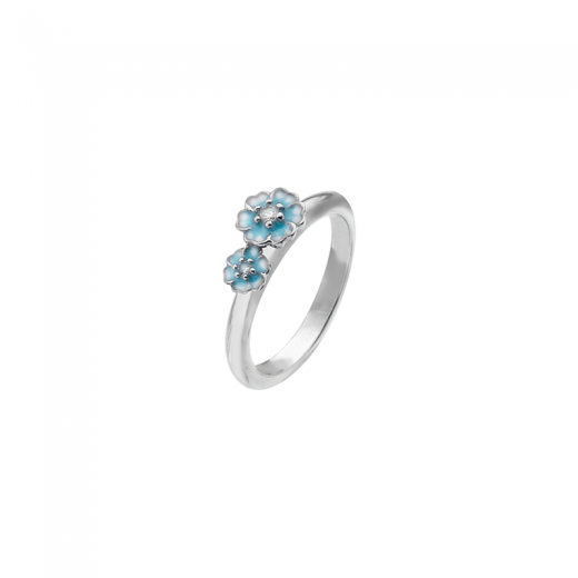 Virtue Stack Rings Cluster Blue