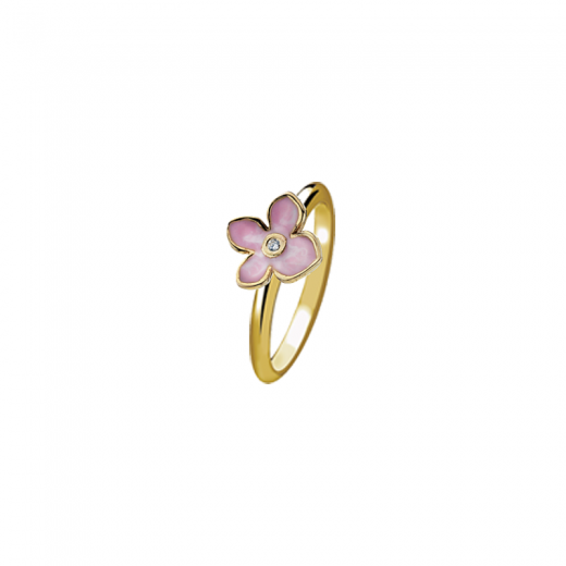 Virtue Stack Rings Forget Me Not Pink