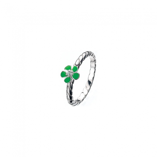 Virtue Stack Rings Green Geranium