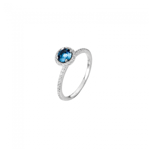 Virtue Stack Rings Mind's Eye Blue CZ